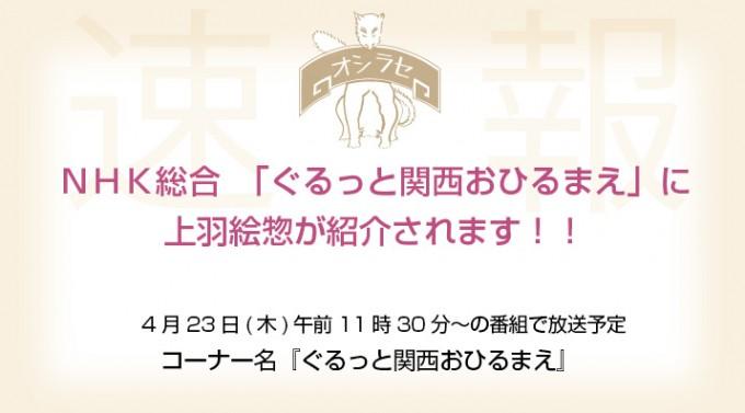 NHK総合 「ぐるっと関西おひるまえ」