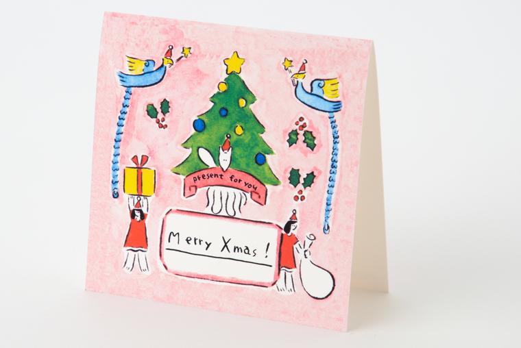 イラストレーター鬼頭祈さん描き下ろしのクリスマスカード