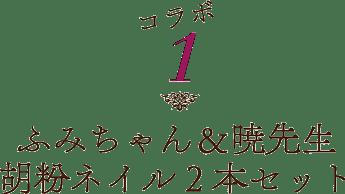 ふみちゃん&暁先生「胡粉ネイル2本セット」