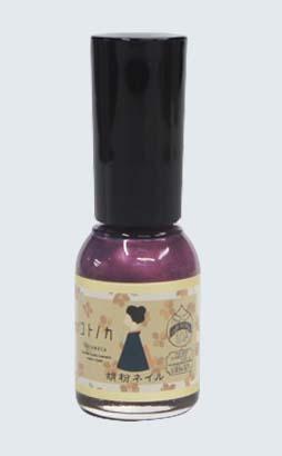 胡粉ネイル 花紫