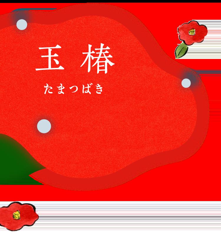 胡粉ネイル玉椿(たまつばき)
