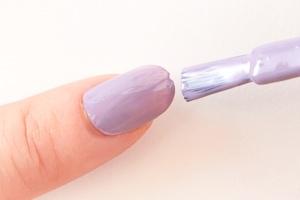 紫苑(しおん)を2度塗り
